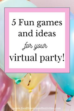 We have provided ideas on how to throw a virtual party! Discover fun games, ideas for the invitation, fun themes, and many more ideas for kids!! Learn how to make a box filled with fun. #virtualparty #ideasforkids #games #favors #invitation Diy Party, Party Favors, Party Ideas, 9th Birthday, Birthday Parties, Party In A Box, Balloon Garland, Perfect Party, Fun Games