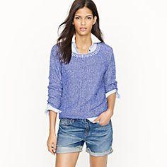 jcrew linen sweatshirt