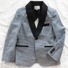 la miniatura linen tuxedo jacket