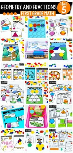 If you are looking to get away from the boring box curriculum or even just supplement your current math curriculum, THIS is the Kindergarten Math curriculum for you! First Grade Curriculum, 1st Grade Math, Kindergarten Math, Grade 1, Core Learning, Student Learning, Solid Shapes, 3d Shapes, Basic Geometry