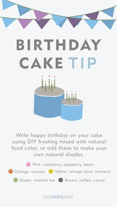 Birthday Cake Tips: How to make frosting using natural colors