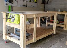 Mobile Workbench With Table Saw Mobile Workbench With Built In Table Miter Saws 8 Steps With Mobile Workbench With Table Saw Woodworking Projects Diy Mobile I Built A Mobile Workbench Mobile Workbench Woodworking How To… Rolling Workbench, Workbench Plans Diy, Table Saw Workbench, Building A Workbench, Portable Workbench, Mobile Workbench, Woodworking Bench Plans, Woodworking Projects Diy, Garage Workbench