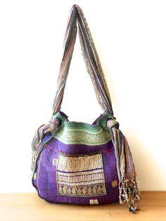 .Kantha quilt bag