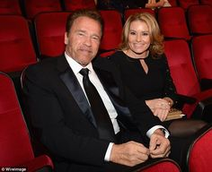 He's a fan: Arnold Schwarzenegger attended the Sinatra tribute with girlfriend Heather Milligan
