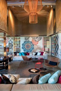 W Retreat & Spa, Vieques, PR- Patricia Urquiola - Tropicalia in leather and Field Sofa Interior Modern, Spa Interior, Interior Desing, Commercial Interior Design, Commercial Interiors, Interior Design Inspiration, Interior Architecture, Patricia Urquiola, Living Colors