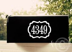 Mailbox numbers with frame - Vinyl Wall Art
