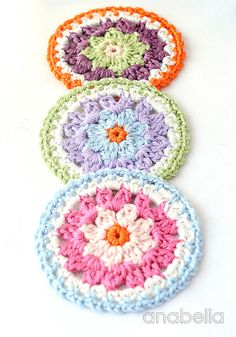 Crochet mandala by Anabelia Craft Design
