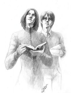 Artist: Sangrill.  Severus Snape versus James Potter - contemplative rivals.  I know who I'd chose!