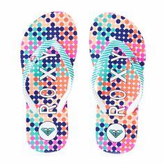 Roxy Flip Flops - Roxy Pebble Flip Flops - Aqua