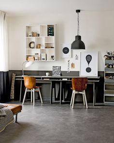 Top 30 Stunning Home Office Design - Site Home Design Industrial Home Offices, Industrial House, Industrial Style, Vintage Industrial, Industrial Workspace, Modern Home Offices, Industrial Shelves, White Industrial, Vintage Modern