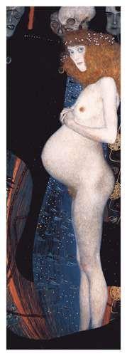 Hope I art print by Gustav Klimt