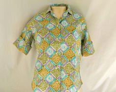 Vintage 50s / 60s Cotton Blouse  Lavender / by ModLoungeVintage, $36.00