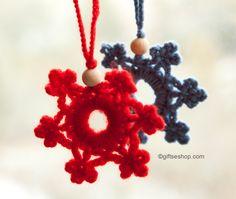 snowflake pattern, free Christmas crochet patterns, X-mas, #haken, gratis patroon (Engels), sneeuwvlok, ornament, sleutelhanger, Kerstmis