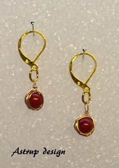 Beautiful  red Coral earrings from Lisa Astrup Art & craft by DaWanda.com
