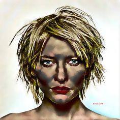 Original Celebrity Painting by Acqua Luna Cate Blanchett, Saatchi Art, Original Paintings, Canvas, Portraits, Paintings, Artists, Drawings, Art
