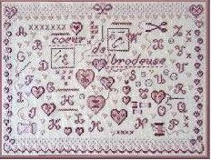 french cross stitch pattern coeur de brodeuse at thecottageneedle.com ~ valentine's day or mother's day