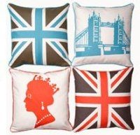 We See London, We See Cool Britannia Pillows for 50% Off