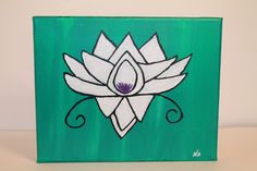 Abstract Lotus by aCoupleofBrushes on Etsy https://www.etsy.com/listing/243249541/abstract-lotus