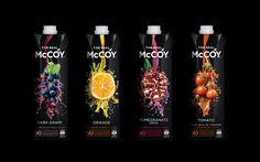 McCoy Juices - Frucor Beverages (jus de fruit) | Design : Dow Design, Nouvelle-Zélande (novembre 2015)