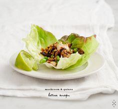 Mushroom & Quinoa Lettuce Wraps Recipe - Love and Lemons