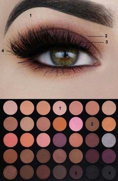 Gorgeous Makeup: Tips and Tricks With Eye Makeup and Eyeshadow – Makeup Design Ideas Eye Makeup Images, Dark Eye Makeup, Purple Eye Makeup, Bronze Makeup, Eye Makeup Steps, Eyebrow Makeup, Skin Makeup, Makeup Morphe, Beauty Make-up
