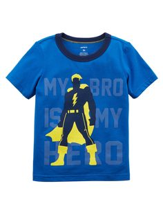 dd776796e Toddler Boy Bro Is My Hero Lightweight Jersey Tee
