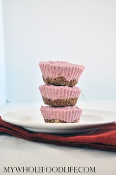 Vegan Strawberry Cheesecake Bites - My Whole Food Life