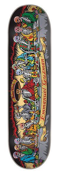 Santa Cruz Skateboards: Decks: 8.0in x 31.6in Guzman Dining with the Dead Deck