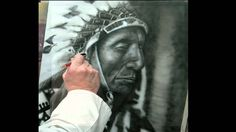 Harder & steenbeck airbrush, American Indian