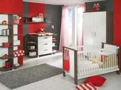 Nice Babyzimmer Set rot braun