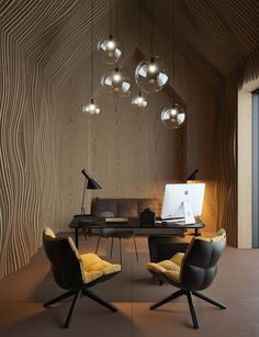 Wood adding texture and dimension walls. Wonderful!