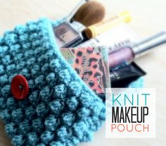 Knit Makeup Pouch |Just B Crafty