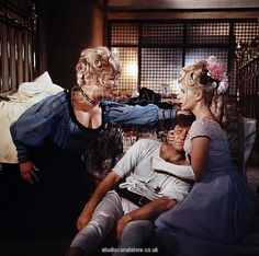 An poster sized print, approx mm) (other products available) - Joan Sims, Jim Dale and Angela Douglas in a scene from Carry On Cowboy - Image supplied by STUDIOCANAL - poster sized print mm) made in the UK Fine Art Prints, Canvas Prints, Framed Prints, Framed Wall, Wall Art, Sidney James, Jim Dale, Cowboy Images, British Comedy