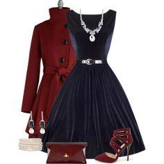 """""""Vintage Dress"""" by jennifernoriega on Polyvore"""