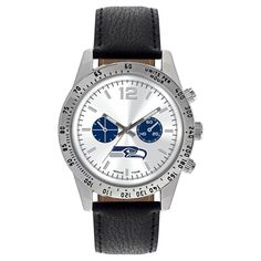 Men's Game Time NFL Letterman Sports Watch - Black - New England Patriots