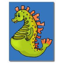 Sea horse for kids 7 postcard