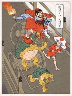 Mario Kart old edo style