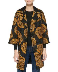 Smythe Floral-Print Opera Coat