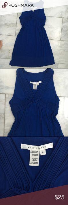 Blue Max Studio dress Empire waist, gorgeous! Max Studio Dresses Midi