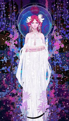 Tarot-02-The High Priestess, Casimir Lee on ArtStation at https://www.artstation.com/artwork/km46A