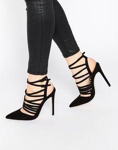 Image 1 - ASOS - POWER - Chaussures à talon pointues effet cage