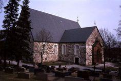 Halikon kirkko. Kuva: MV/RHO 124881:1 Maija Kairamo 1992