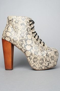 The Lita Shoe in Ivory Python by Jeffrey Campbell Shoes   Karmaloop.com - Global Concrete Culture - StyleSays