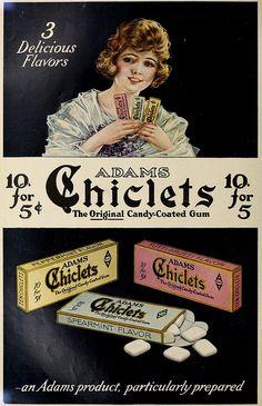 1910 Chiclets Ad Vintage Ads Pinterest Vintage Ads
