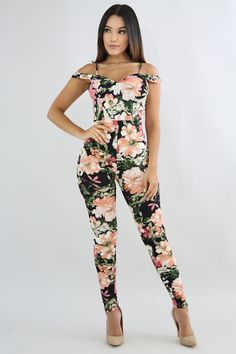 Colorful Floral Summer Jumpsuit