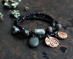 Rune bracelet Wunjo triple wrap bracelet Joy charm by solekoru