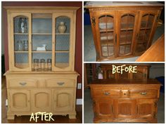 Amazing china cabinet transformation with Annie Sloan chalk paint