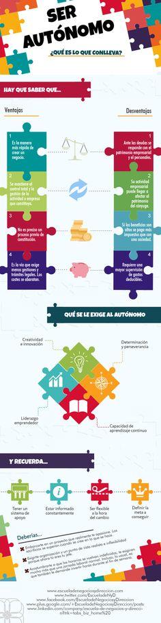 Ser autónomo: que conlleva #infografia #infographic #entrepreneurship