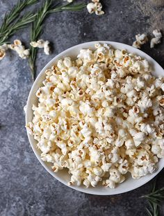 An easy, gluten-free and vegan recipe for rosemary truffle popcorn. Salty, crunchy, truffly, and totally addictive.