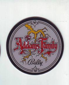 THE ADDAMS FAMILY BY BALLY 1992 ORIGINAL NOS PINBALL MACHINE PLASTIC PROMO #ballypinball #pinballpromos #theaddamsfamily